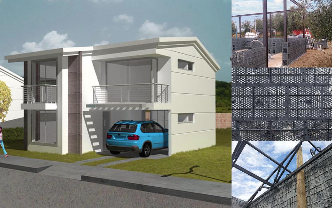 Casas de bajo coste hechas con pl stico reciclado - Casa de materiales de construccion ...
