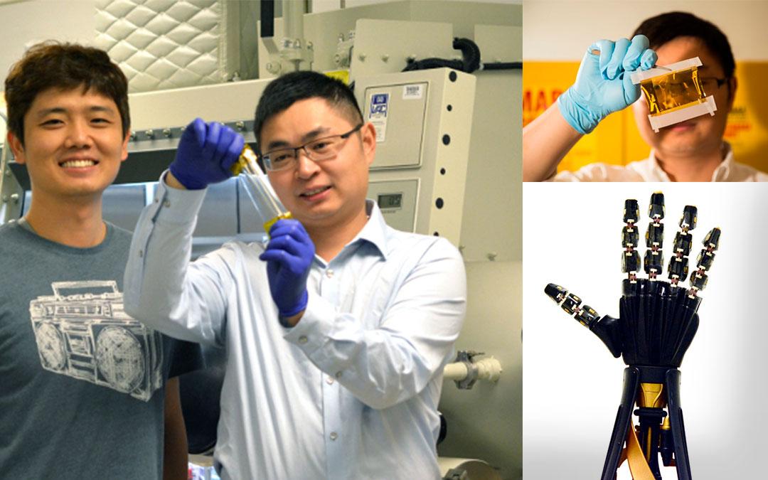 'Piel' artificial que le da sentido del tacto a los robots